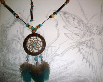 "Necklace dream catcher ""color Turquoise"""