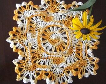 Nouveau tissu de coton à la main au crochet napperon