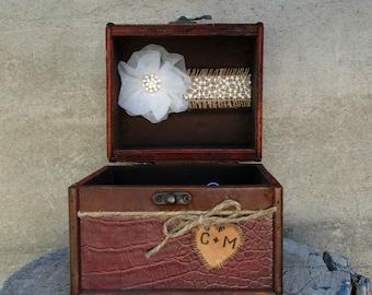 Rustic Ring Bearer Pillow, Alternative Ring Bearer Pillow, Ring Bearer Pillow, Ring Box, Personalized Ring Pillow, Engagement Ring Box