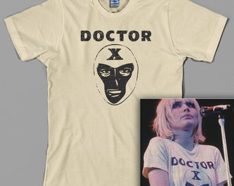 Doctor X T Shirt - Debbie Harry, Deborah, blondie, 70s, classic rock, punk, Lucha Libre - Graphic Tee, All Sizes & Colors