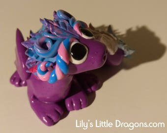 Handmade purple dragon