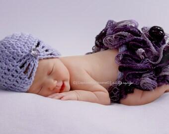Baby Girl Hat, Baby Girl Flapper Hat, Girl Handmade Hat, Kids Hat, Girl Hat, Girl Lavender Hat, Baby Hat, Lavender, Photo Props. Baby Gift.