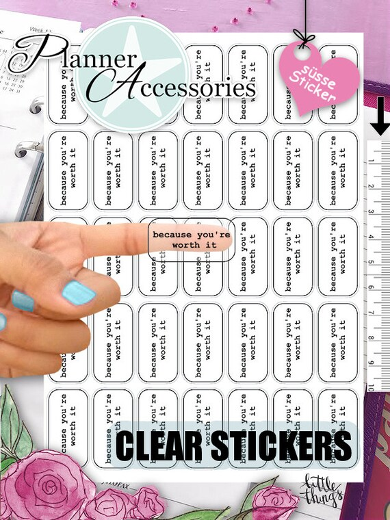 Clear inspiration stickers quote stickers motivation