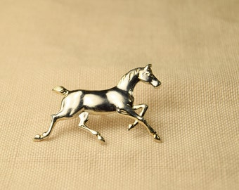 Silver Running Horse Pin