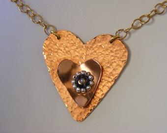 Necklace and Pendant - Genuine Gemstone - Copper