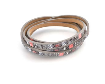 Ethnic leather bracelet cord