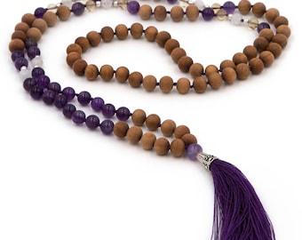 108 Bead Amethyst Mala - Cleansing & Calming