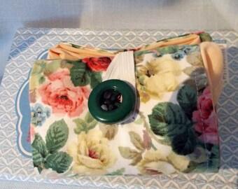 Rose Print Cotton Folding Shopping Bag Market Bag ECO Friendly Bag