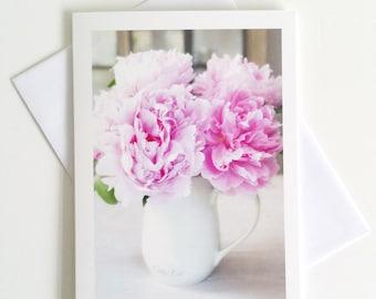 Peonies - fine art photography greeting card