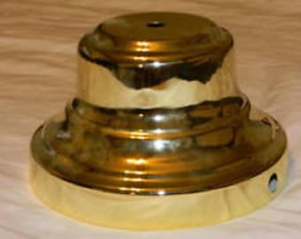 Brass Colored Lamp Base , Vintage Lamp Parts