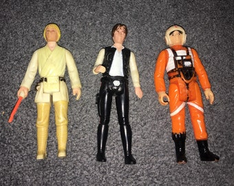 Vintage Star Wars figures from 1977