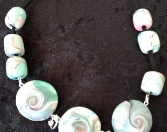 Swirl Lentil Beads necklace