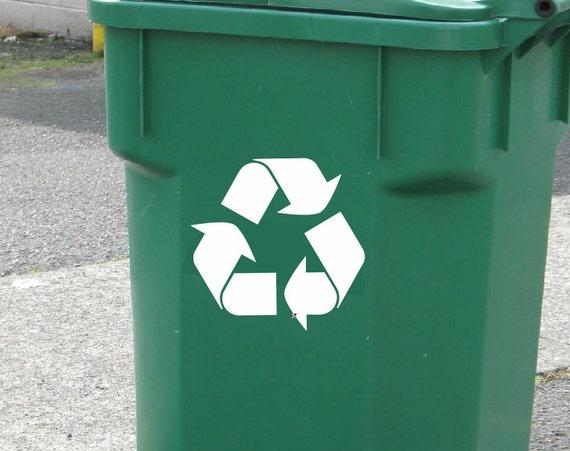 Set Of 2 Recycle Symbol Vinyl Decals Recycle Decals Choose