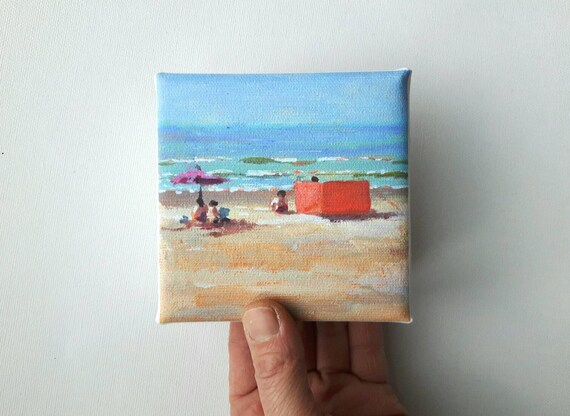 Small Canvas Beach Print Landscape Painting