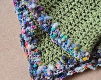 Forest Sprite - Handmade crocheted scarf
