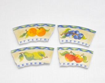 Broken China Mosaic Tiles - Focal Tile - Fruit - Set of 4