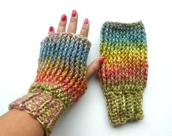 Crochet Fingerless Up North Mitten Glove Pattern PDF Instant Download Adult textured