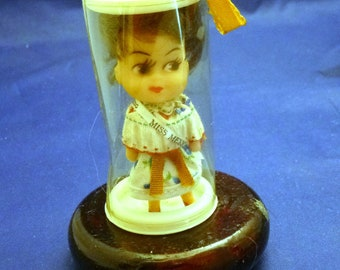 Vintage Miniature Miss Mexico Made in Hong Kong Collectible Doll, 1960s