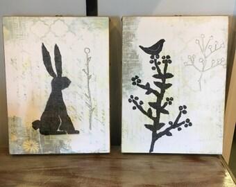 Layered Print Wall Art