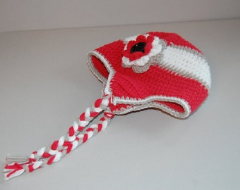 Rolltide crochet beanie with earflaps