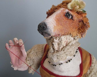SPECIAL OFFER: Borzoi Hound Anthro Art Doll & Stop-Mo Maquettte