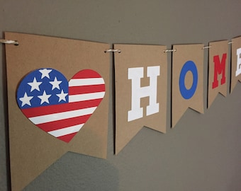 Welcome Home Deployment Military Banner