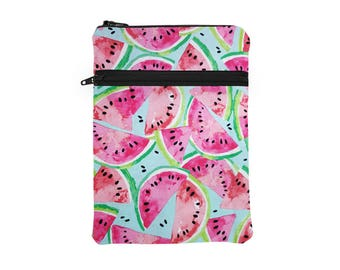 Watermelon Tablet Cover, iPad Pro 10.5 Zipper Sleeve, Fruit  Kindle Voyage, Asus ZenPad Sleeve, Galaxy Tab Zip Case - pink watermelon slices