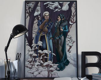 Critical Role - Snowy Flirt - Print - Dungeons and Dragons Vex'ahlia Percy