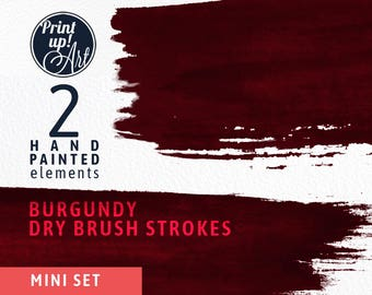 Watercolor clipart brushstrokes, BURGUNDY brush strokes clipart, brushtrokes, burgundy paint,hand painted,dry brush strokes,stationery,