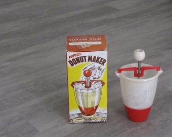 Vintage Popeil's Donut Maker - white and red