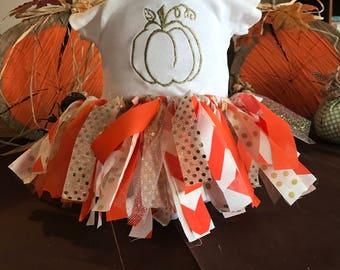 Pumpkin Onesie and Tutu Set