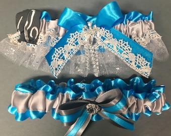 Custom Wedding or Prom  Garter Single Garter Or Set ...Custom  Colors  ,School or Team Designs.