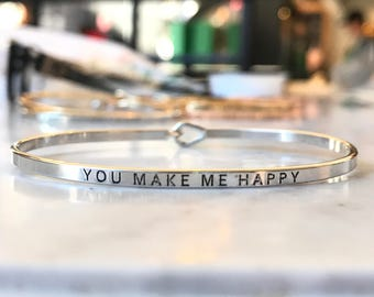 Inspired bangle ( you make me happy