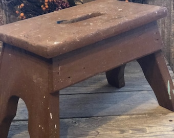 Adorable 1940s era primitive bench