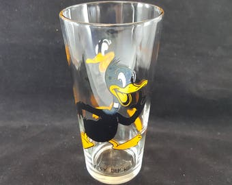 Warner Bros. Pepsi Collectible Drinking Glass Vintage 1973 - Daffy Duck (Free Shipping)