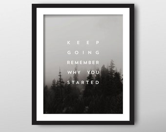 Black and White Art Print, Instant Download, Black and White Photography, Typography Print, Art Quote, Wall Decor