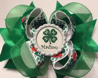 4H Personalized Hair Bow