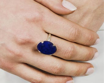 Ring Despina-stone Lapis Lazuli and 925 sterling silver