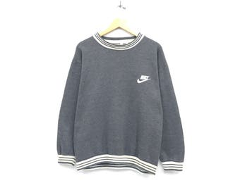 Nike sweatshirts embroidery small logo streetwear sportswear jumper  pullover crewneck / sports brand / large size
