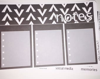 Neutral Geometric Notes Page Sticker Kit