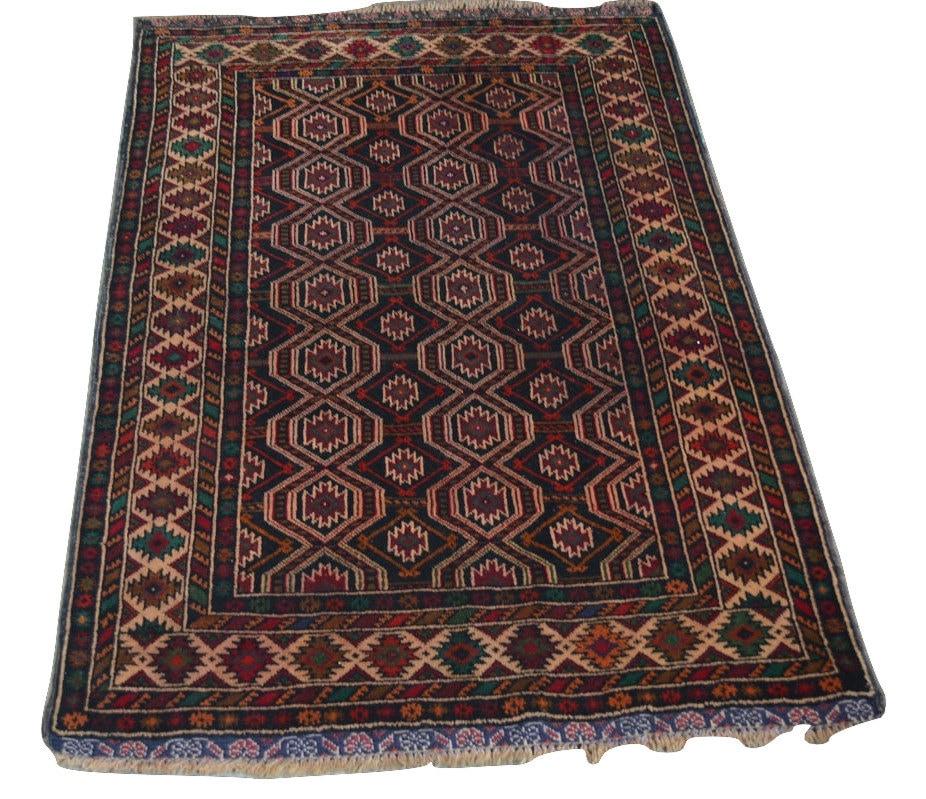 Stunning Afghan Tribal Baluchi Rug / 100% Wool