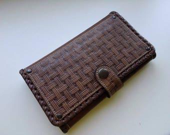 Handmade Genuine Brown Leather Wallet