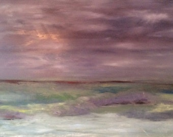 Lavender Skies...An Abstract Landscape