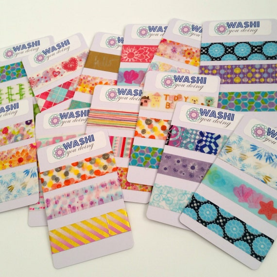 Washi Tape Sample Cards  Random Patterns Of  Inch Washi