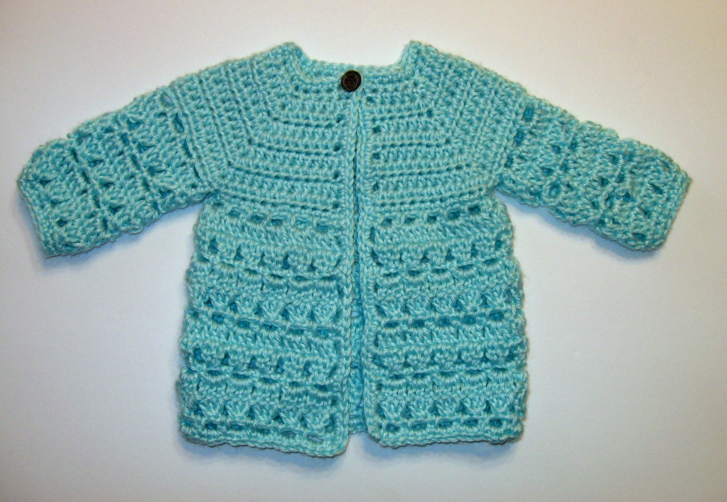 Top Down Crochet Baby Sweater Pattern, Instant Download, Boy or Girl ...