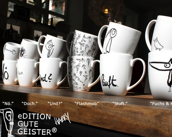 Mugs. 12 cups of the edition good Spirits