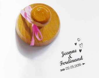 Stamp pad wedding Jeanne and ferdinand vintage/retro to be personalized or customized