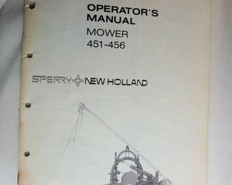 Sperry-Holland mower 451-456 operator's manual