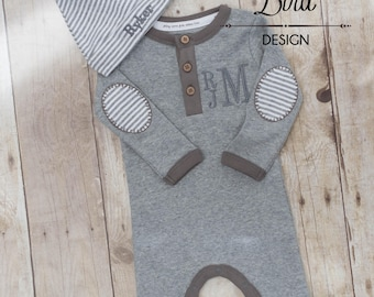 Baby Boy Coming Home Outfit - Going Home Outfit - Newborn Boy Outfit - Newborn Baby Boy - Coming Home Outfit Boy- Take Home Outfit Newborn
