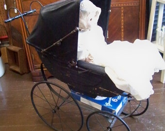 Antique Baby Carriage Baby Buggy Pram